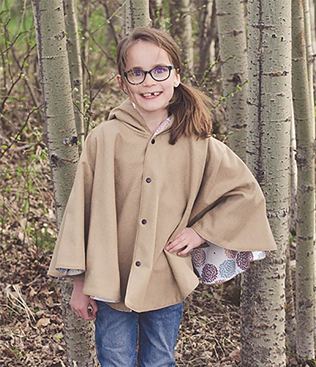 Free Fall Sewing Patterns for Kids for Fall - Fall Cape for Girls