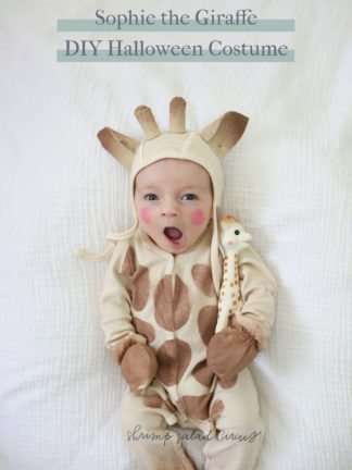 DIY Sophie the Giraffe Baby Halloween Costume thumbnail