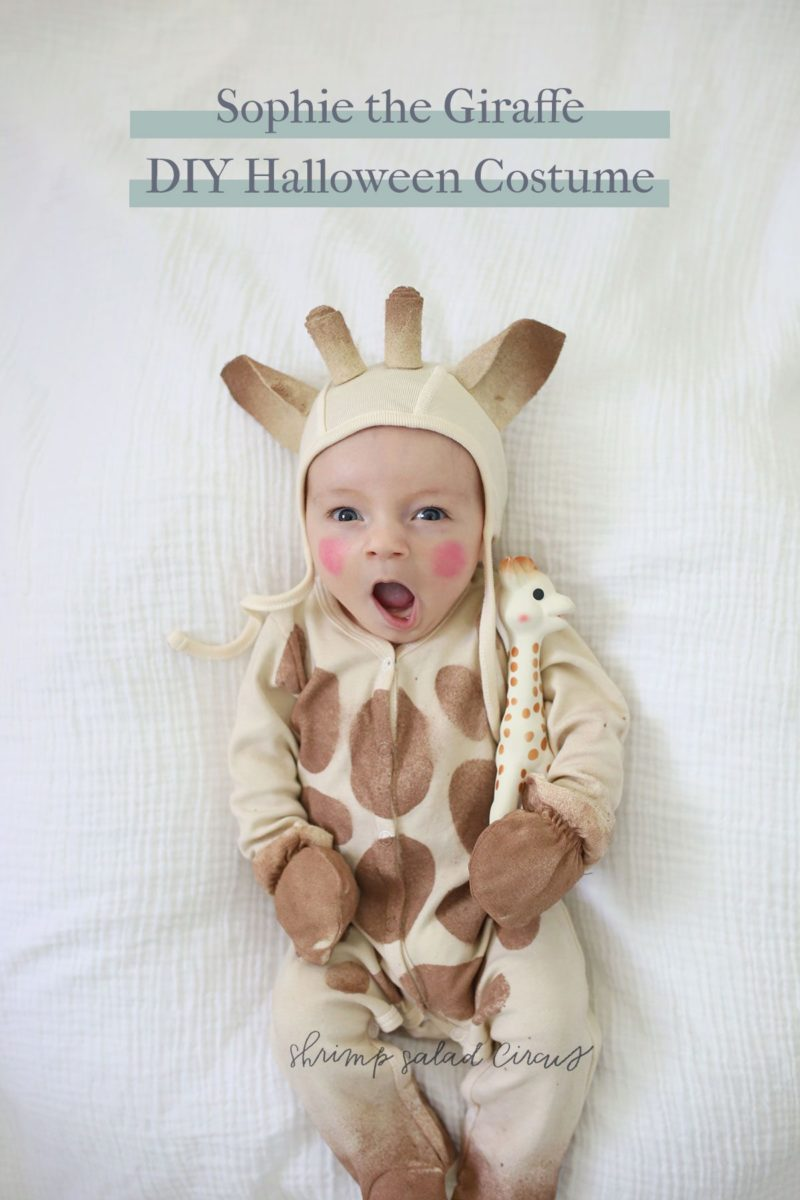 Diy Sophie The Giraffe Baby Halloween Costume Shrimp