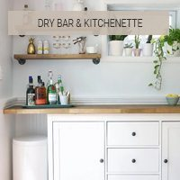 IKEA Hack Button - Dry Bar and Kitchenette