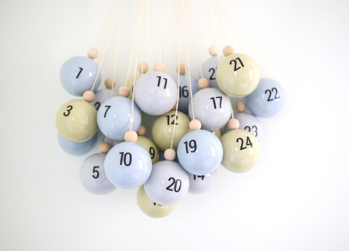 DIY Christmas Ornament Advent Calendar