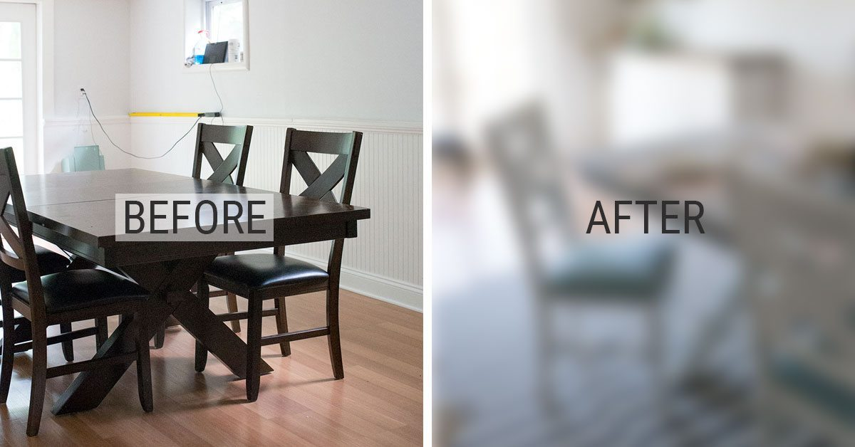 Before And After   DIY Chalk Paint Dining Table And Chairs   Shrimp Salad  Circus