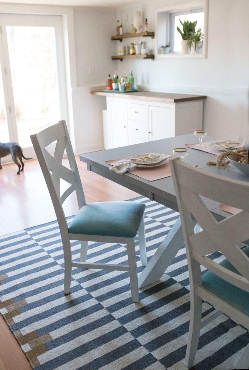 DIY Chalk Paint Dining Table Makeover