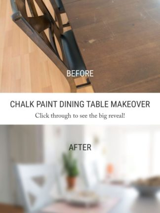Before And After Diy Chalk Paint Dining Table Chairs