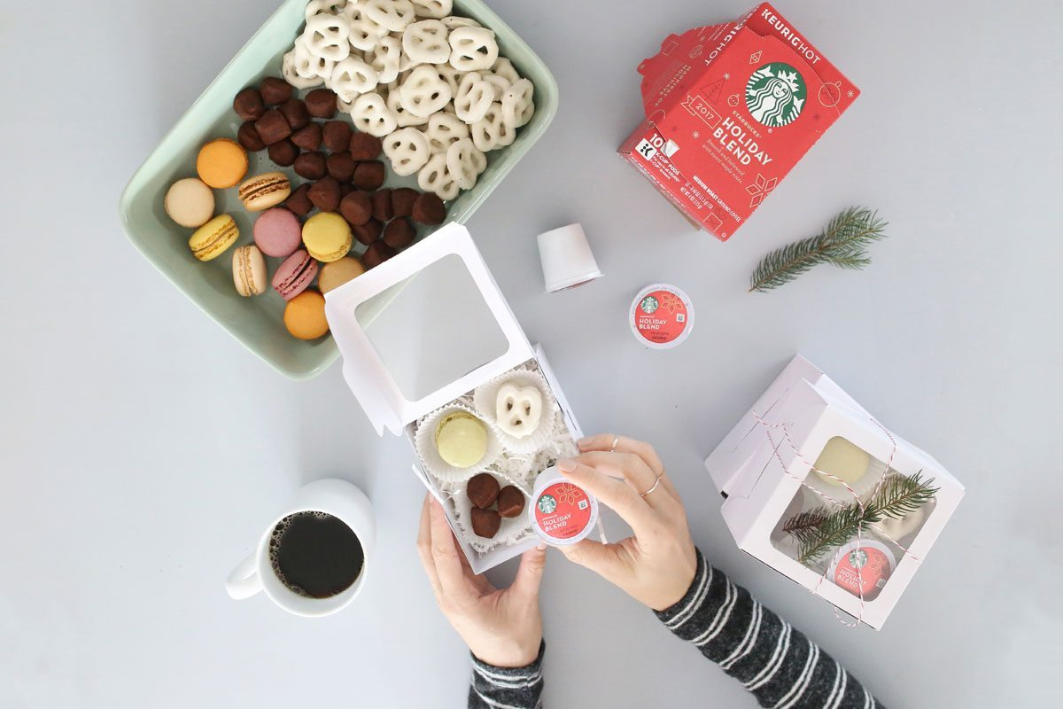 Starbucks Share the Cheer Sweepstakes DIY Holiday Treat boxes