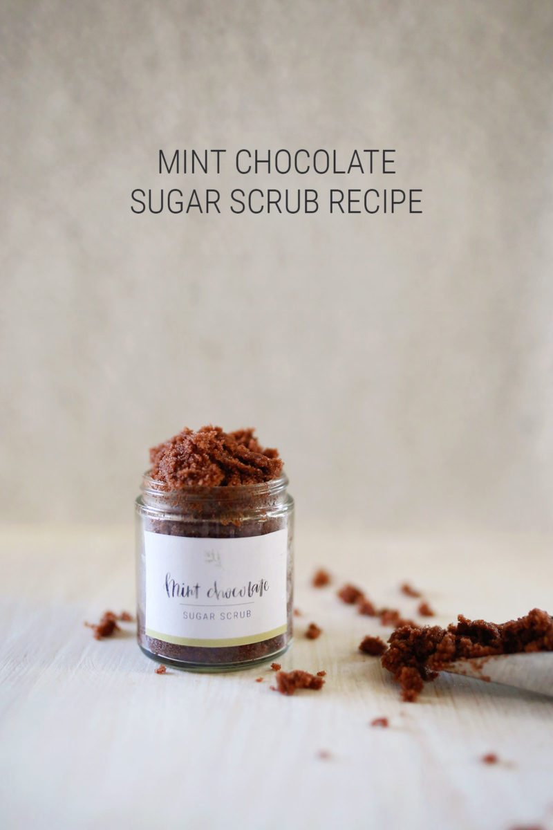 All Natural DIY Mint Chocolate Sugar Scrub Recipe