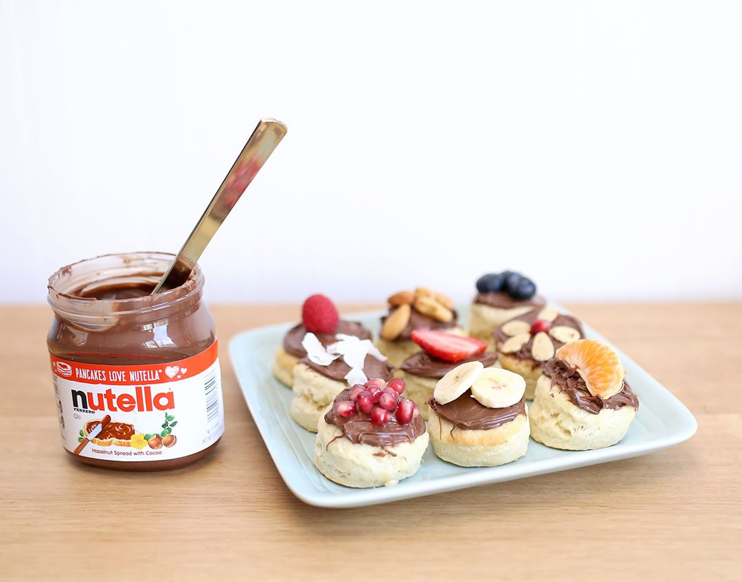 Nutella Biscuit Topping Ideas