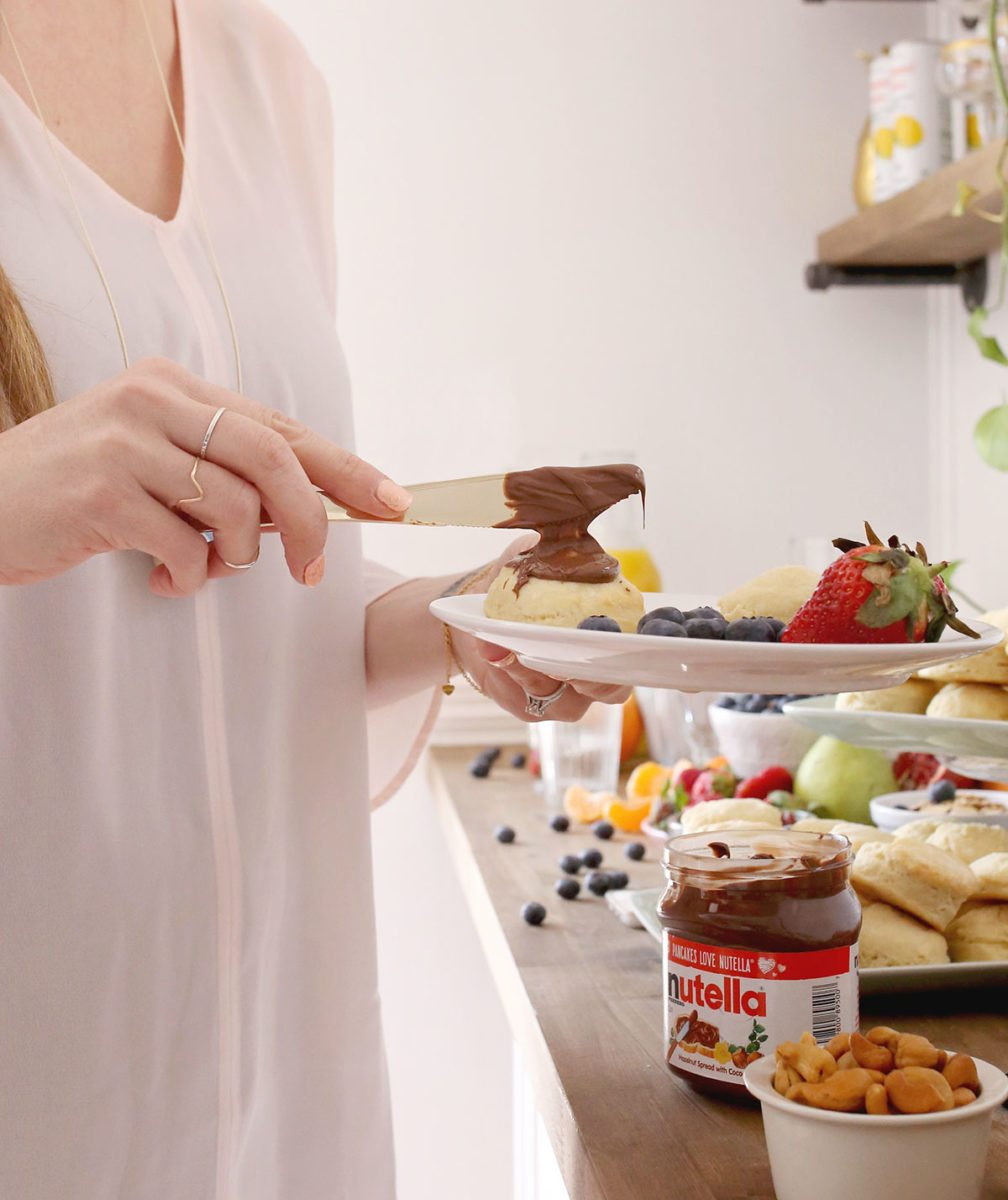 Brunch Biscuit Buffet with Nutella