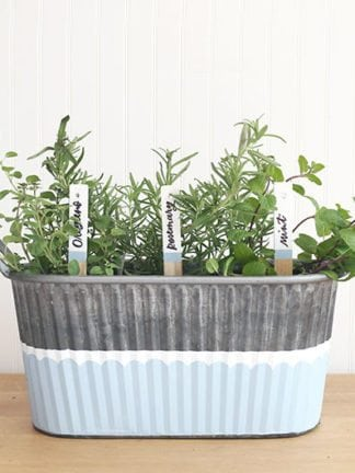 DIY Gardening Gift Basket With Painted Planter and Garden Markers thumbnail