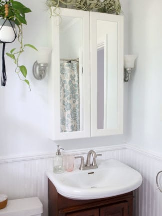 How to Make a Tiny Bathroom Look Bigger + $100 Giveaway With Behr Paint thumbnail