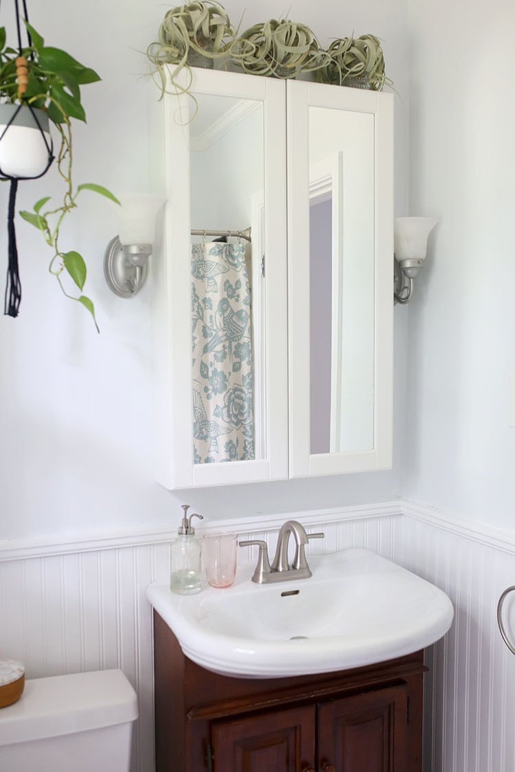 How to Make a Tiny Bathroom Look Bigger With Paint - Shrimp Salad Circus