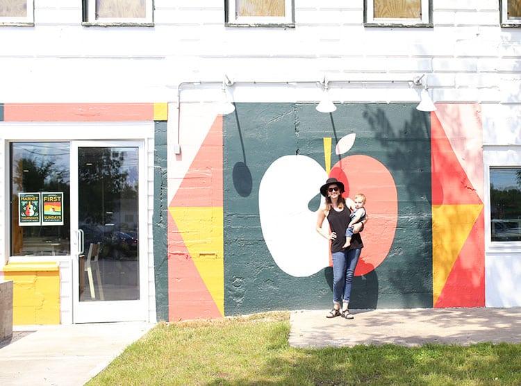Mural by Annemarie Buckley at Shacksbury Cider in Vergennes, Vermont