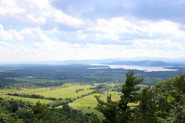 View from the Summit of Mt. Philo Outside Burlington, Vermont