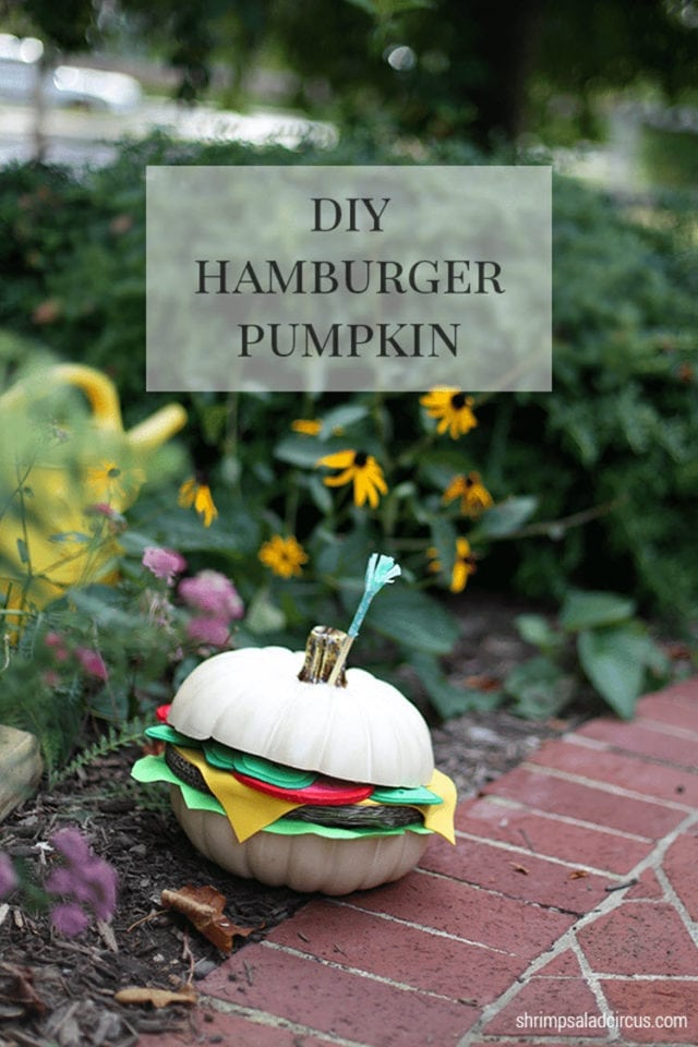 Hamburger Pumpkin Fall Decor