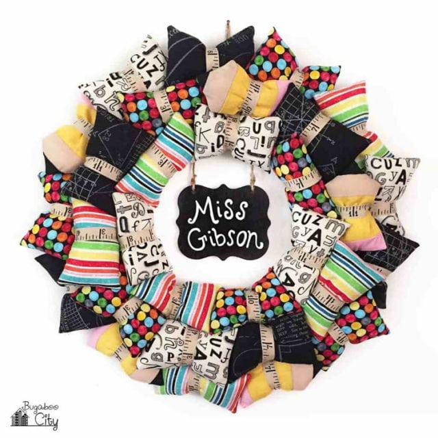 Back To School Pillow Wreath