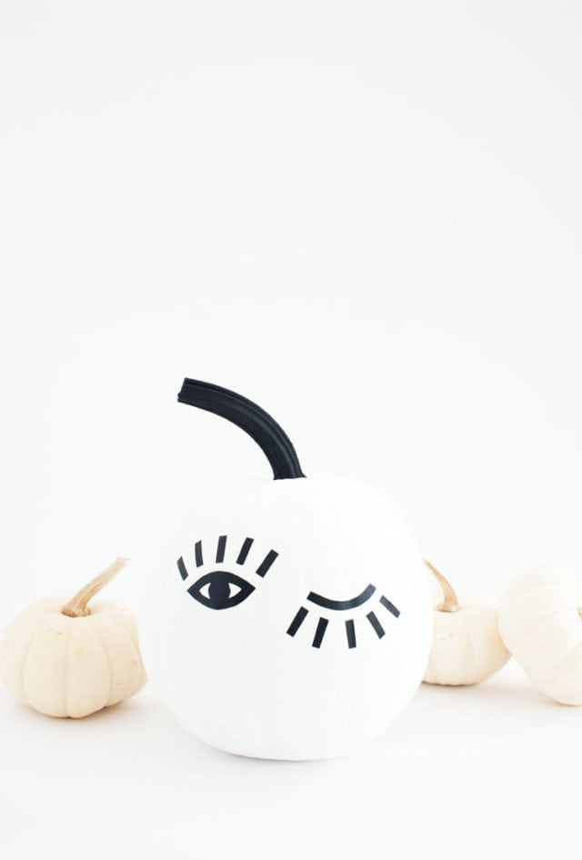 DIY Winking Eye Pumpkin With Printable Template