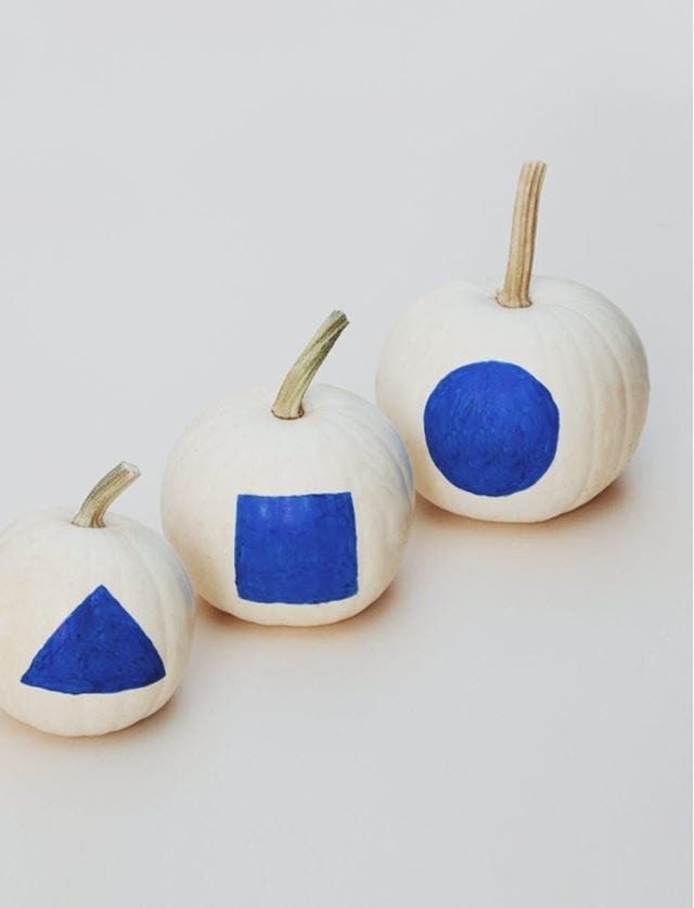 DIY Minimal Shape Pumpkins