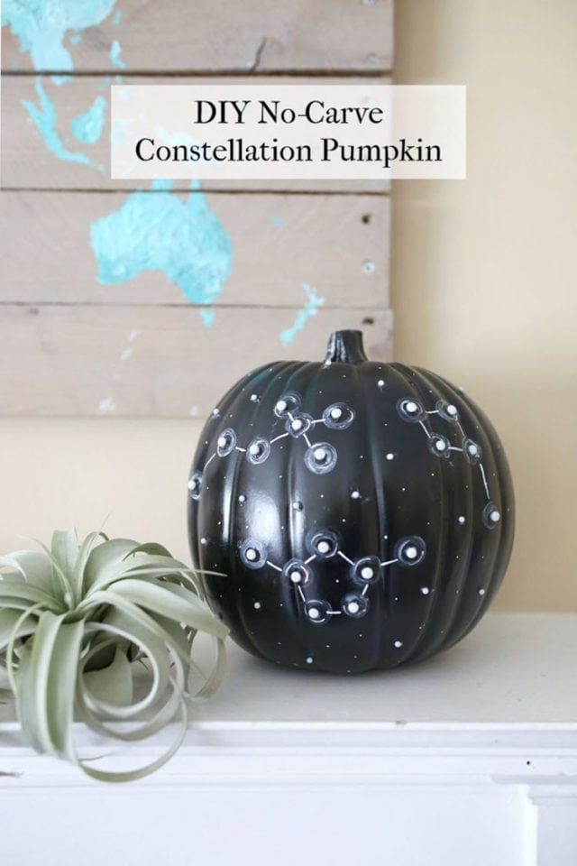 DIY No-Carve Constellation Pumpkin For Halloween