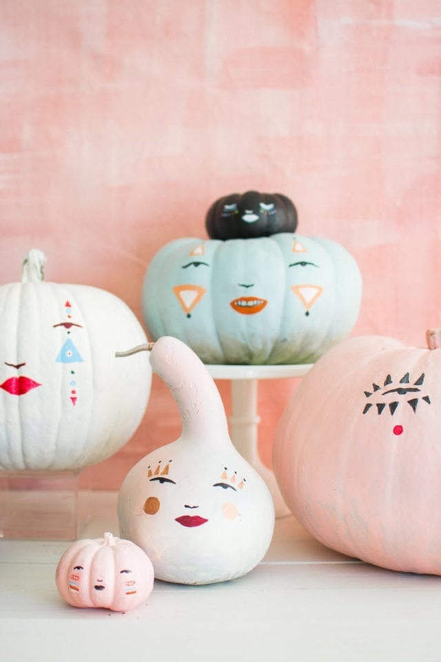 Pastel Pumpkin Faces