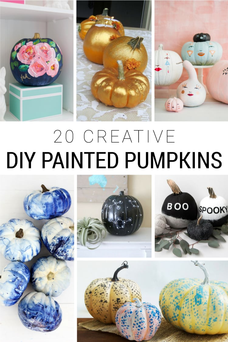 20 Creative DIY Painted Pumpkins for Fall