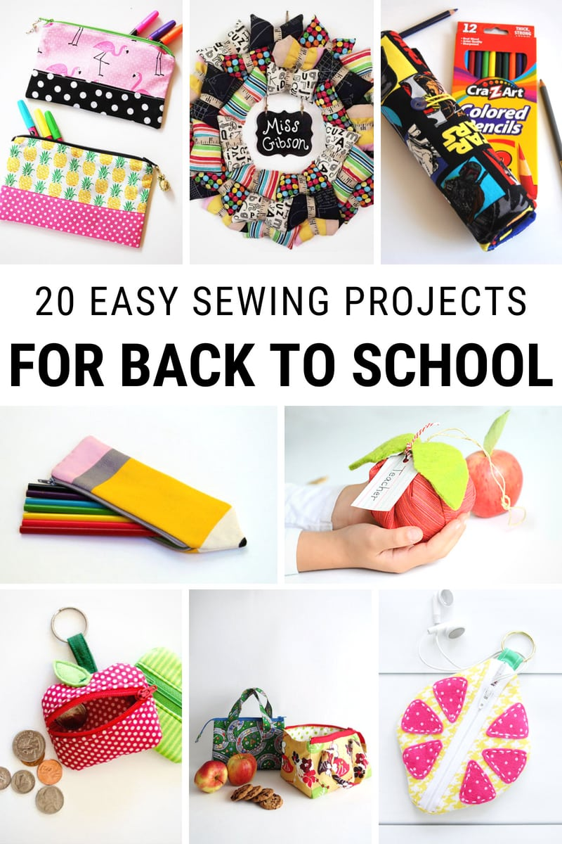 Easy Sewing Projects For Back To School
