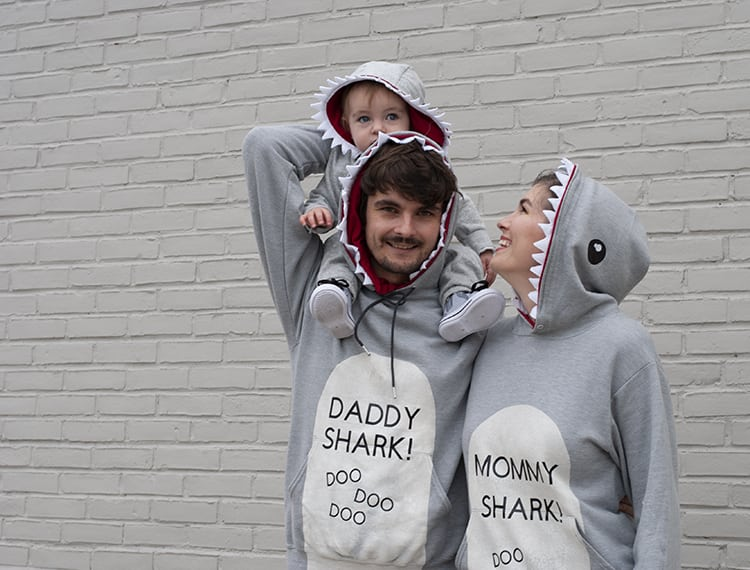 Baby Shark DIY Family Halloween Costume Idea