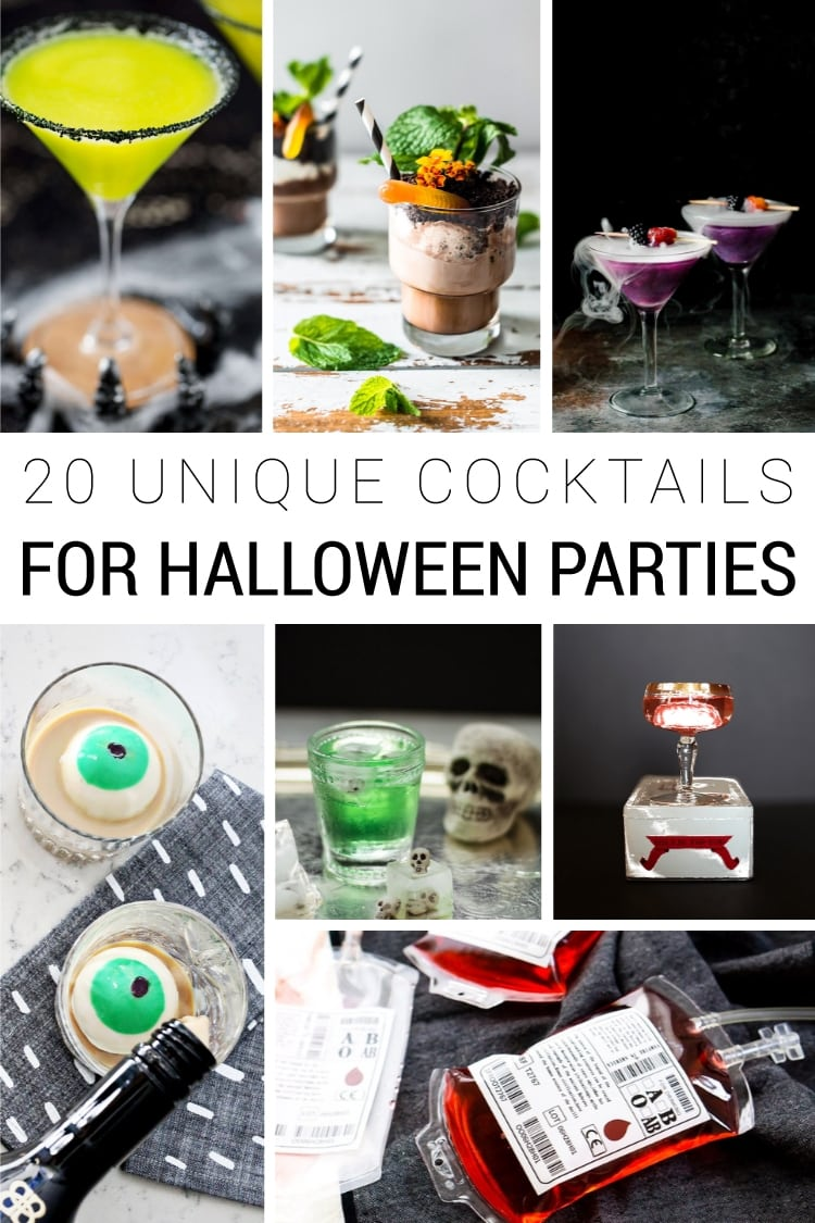 20 Unique Halloween Cocktails - Wow your Halloween party guests with these fun and interesting drinks and cocktail recipes!