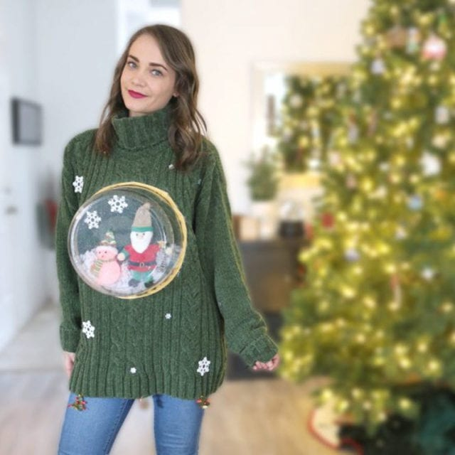 DIY Ugly Christmas Snow Globe Sweater by Nelle Creations