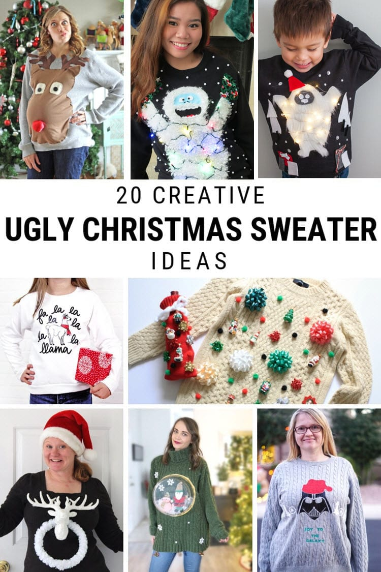 20 DIY Ugly Christmas Sweater Ideas