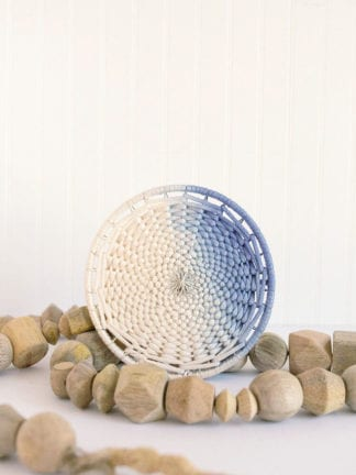 Ombre Dip-Dyed DIY Woven Trivet from Weaving Within Reach thumbnail