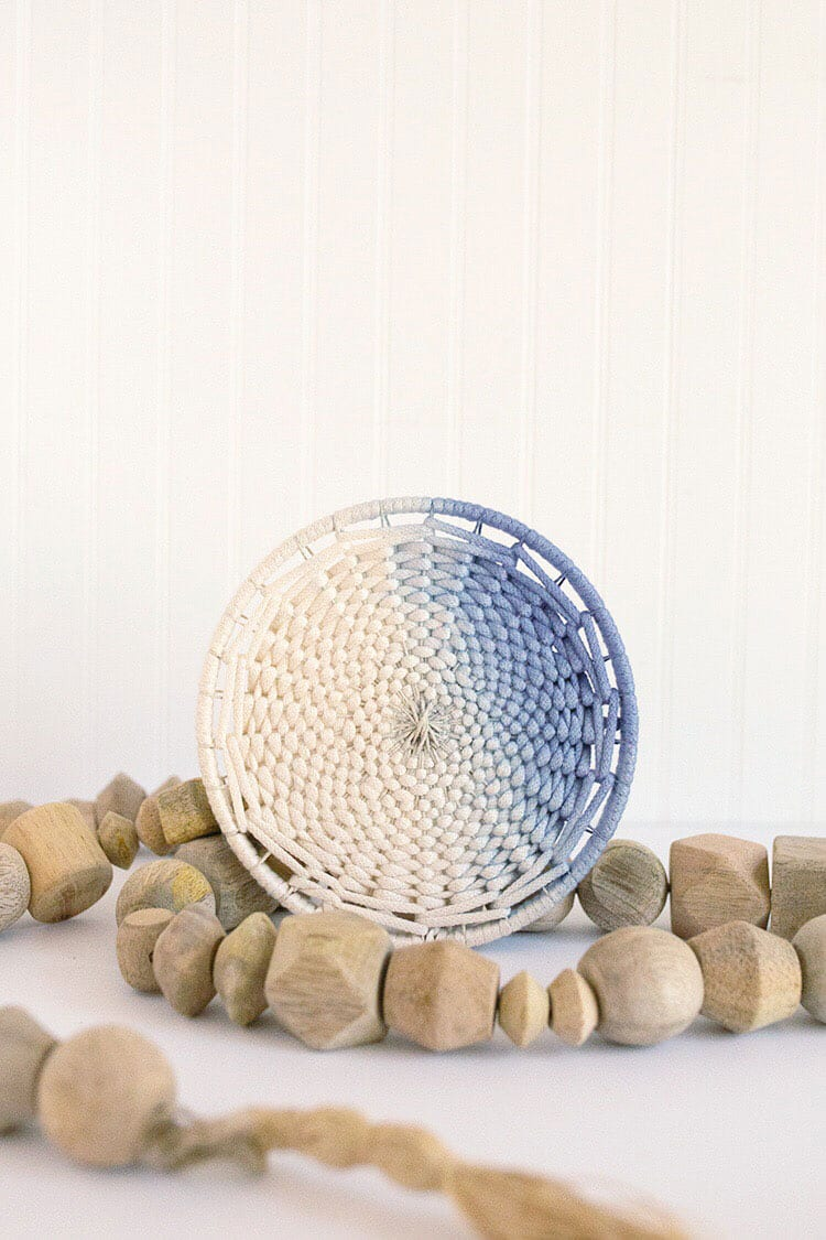 DIY Dip Dyed Ombre Woven Wall Hanging from Weaving Within Reach by Flax and Twine