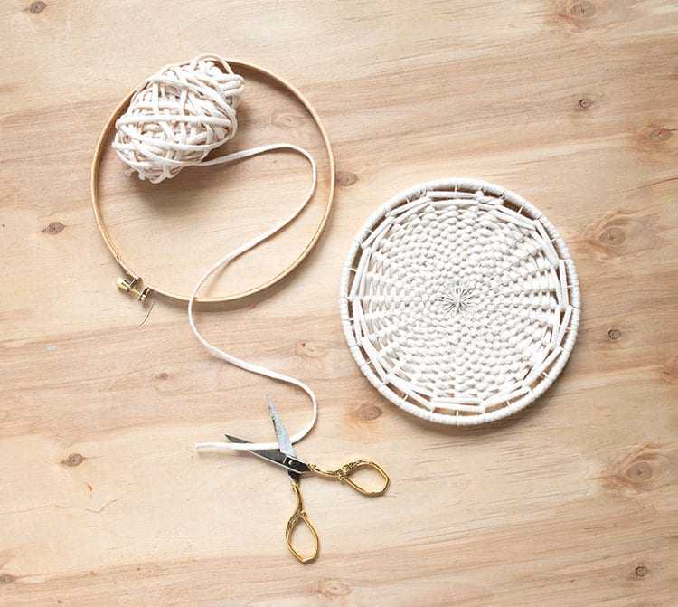 DIY Woven Trivet from Weaving Within Reach 3DIY Woven Trivet from Weaving Within Reach 1