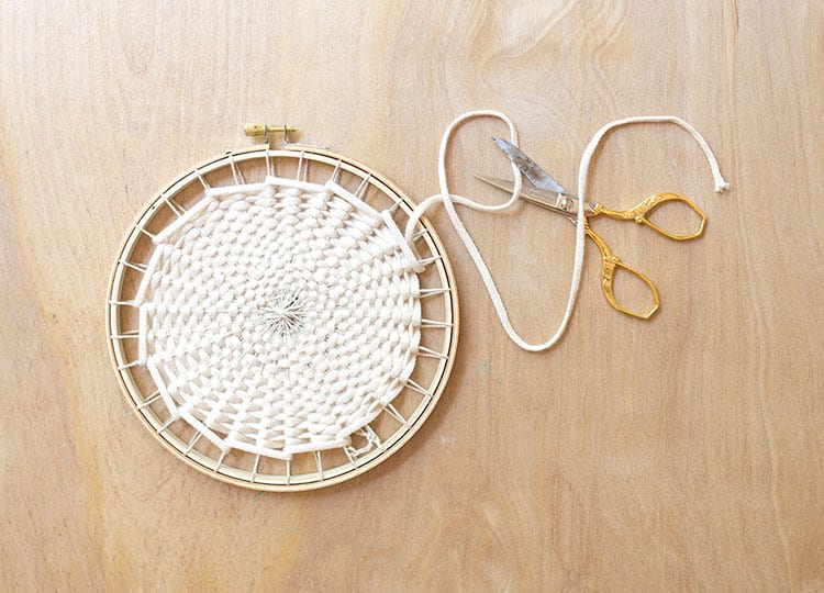 DIY Woven Trivet from Weaving Within Reach 2
