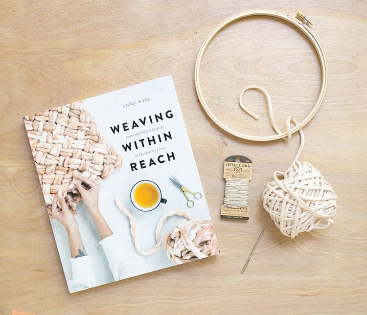 Ombre Dip-Dyed DIY Woven Trivet from Weaving Within Reach