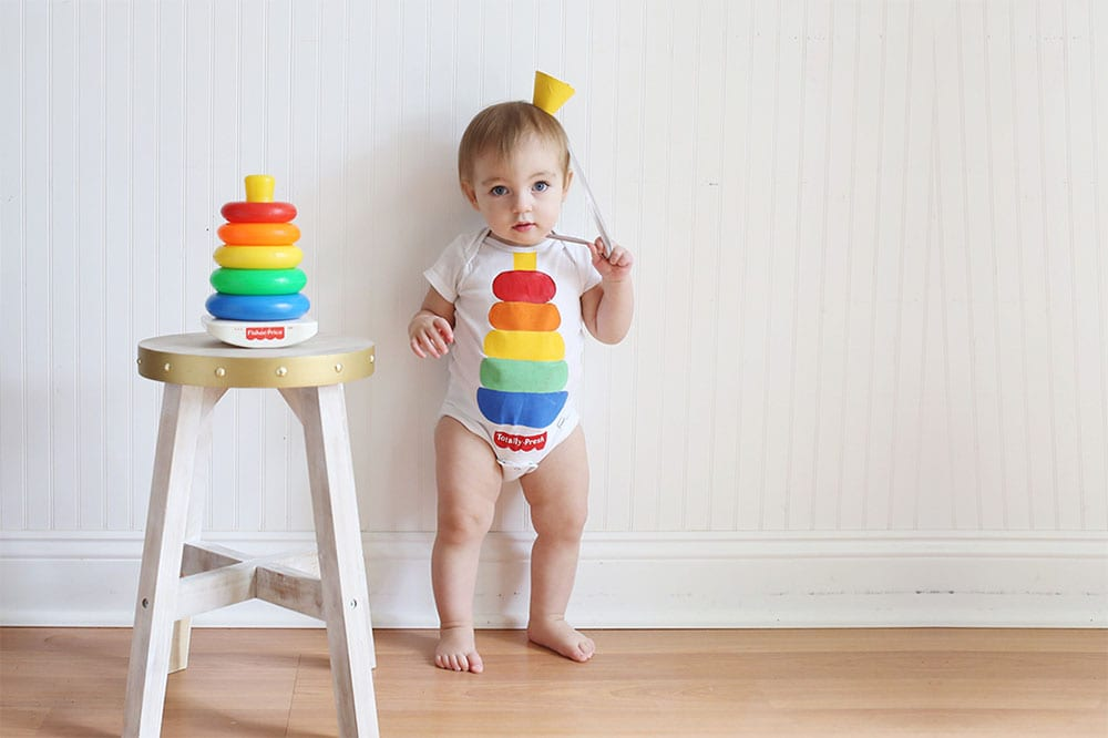 How to Make a Fish Price Stacking Toy DIY Baby Costume for Halloween 1