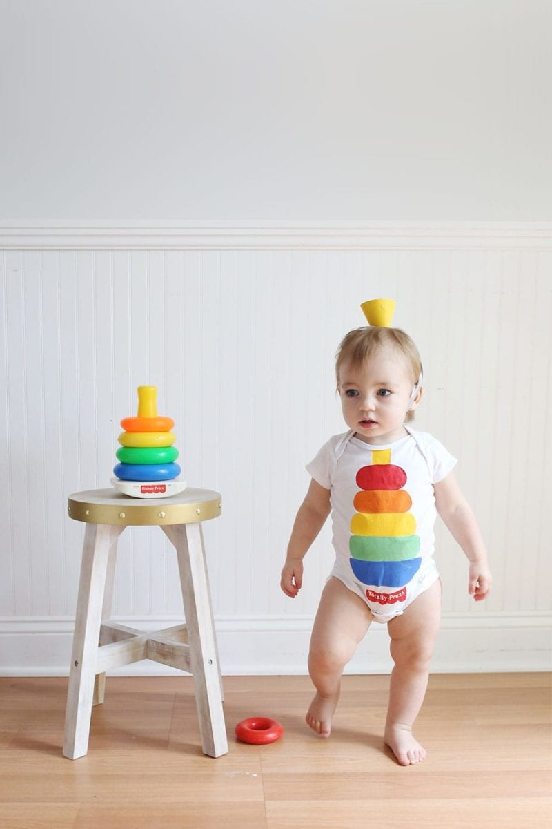 Fisher-Price Stacking Toy DIY Baby Halloween Costume