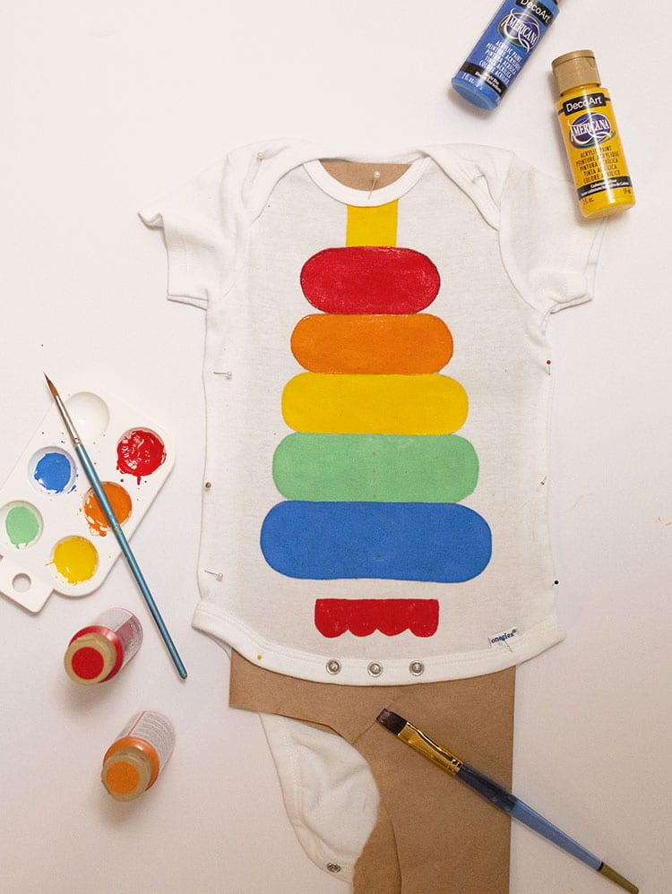 How to Make a Fisher Price Stacking Toy Baby Costume for Halloween - Step 2