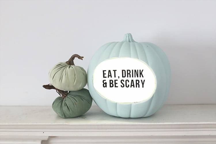 Lightbox DIY Quote Pumpkin for Halloween 1
