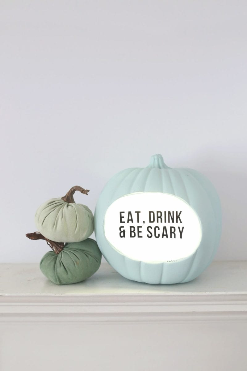 Lightbox DIY Quote Pumpkin for Halloween 2
