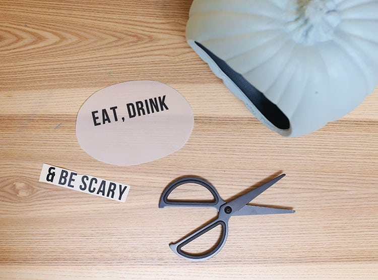 Lightbox DIY Quote Pumpkin for Halloween - Step 5