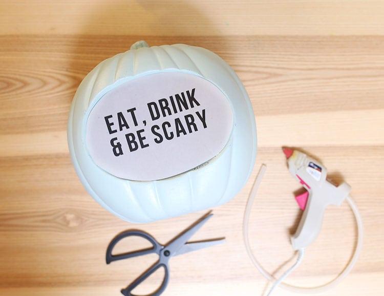 Lightbox DIY Quote Pumpkin for Halloween - Step 6