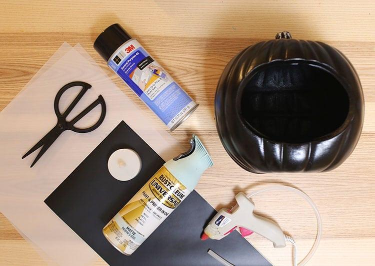 Lightbox DIY Quote Pumpkin for Halloween - Supplies