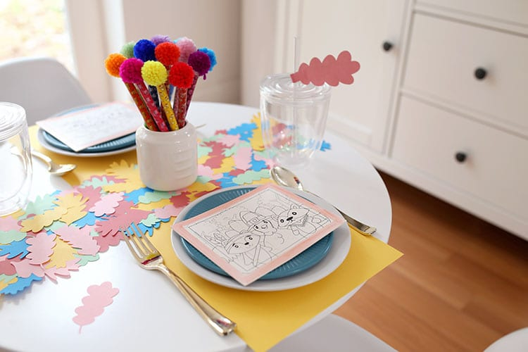 Colorful Kids Thanksgiving Table Ideas 1