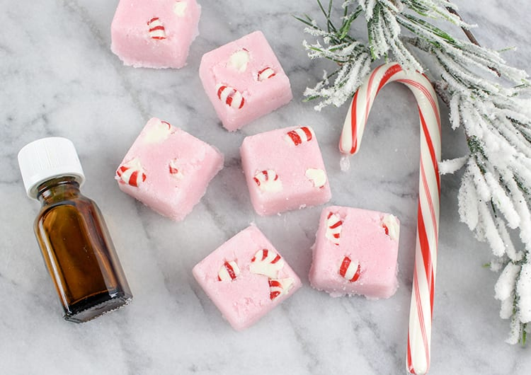 DIY Peppermint Candy Cane Sugar Scrub Cubes Recipe - 1