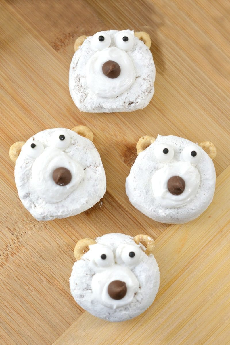 DIY Polar Bear Christmas Donut Recipe