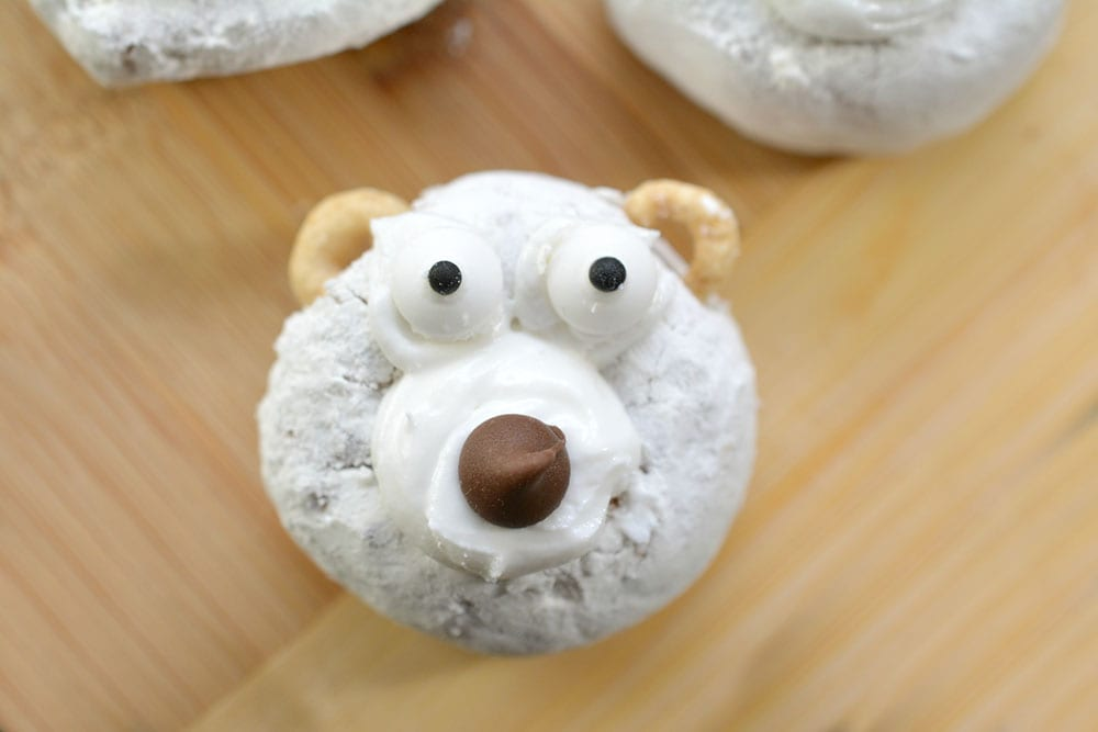 DIY Polar Bear Christmas Donuts