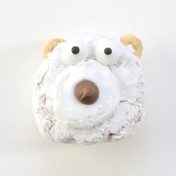 Easy Kids Polar Bear Christmas Donut Recipe - Step 3