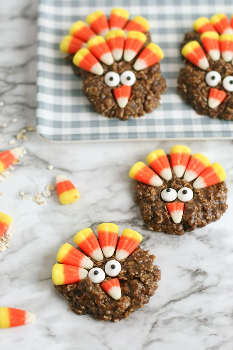 No-Bake Thanksgiving Turkey Cookies Recipe