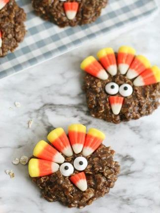 No-Bake Thanksgiving Turkey Cookies Recipe thumbnail