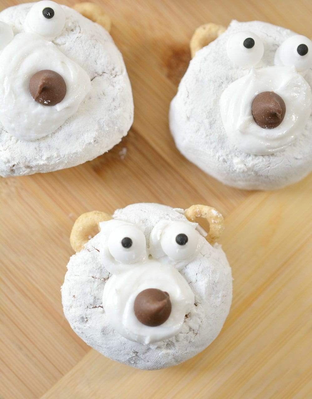 Polar Bear Christmas Donuts for Kids Breakfast